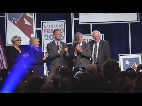 Democratic Presidential candidates campaign in Nevada