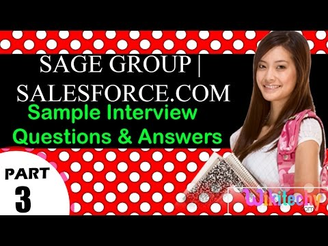 sage group | salesforce.com important interview questions and answers for freshers