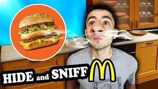 Mcdonalds Hide and SNIFF Challenge! (Where is the BIG MAC?)