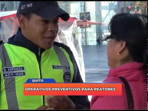 Operativos preventivos para peatones