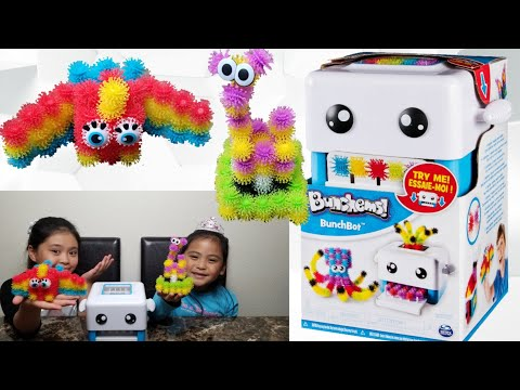 BUNCHEMS BUNCHBOT - Toy Review/Unboxing - Created Parrot & Giraffe Using BunchBot