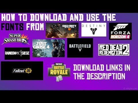 How to DOWNLOAD FONT from Fortnite, Battlefield 5, RedDead Redemption 2,  Just Cause 4, and use them