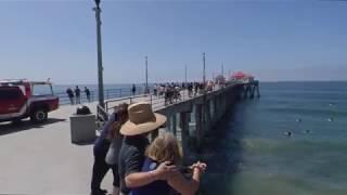 Walking in Downtown Huntington Beach