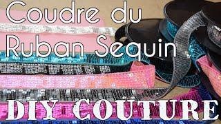 Découvrez mon astuce pour coudre facilement du ruban sequins ou paillettes. Ruban disponible sur www.e-mercerie.com.