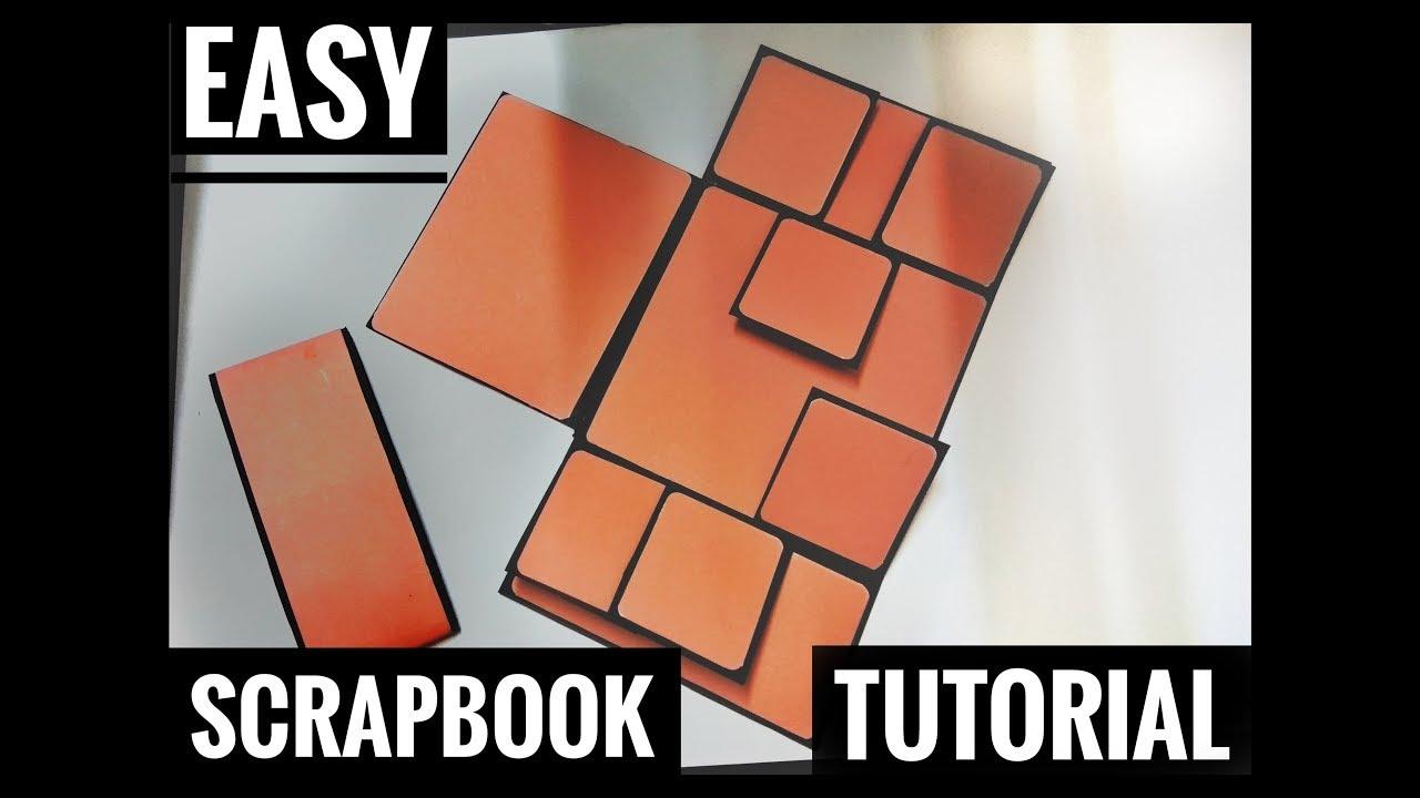 Download Handmade Scrapbook Tutorial | Easy Scrapbook for Begginers | Birthday/Anniversary Gift Idea
