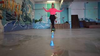 Учимся кататься на роликах с чемпионом России урок 11