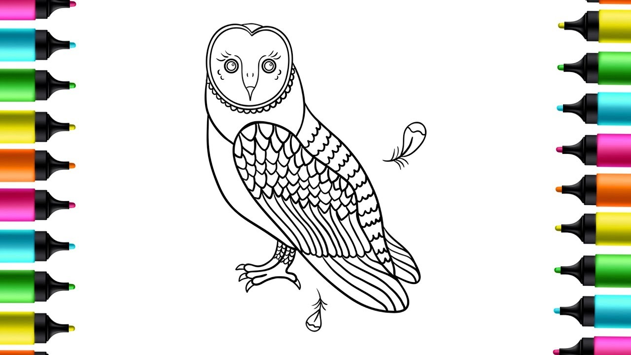 Owl Coloring Pages Owl Coloring Pages For Kids Cute Owl Coloring Pages Animal Coloring Pages Youtube