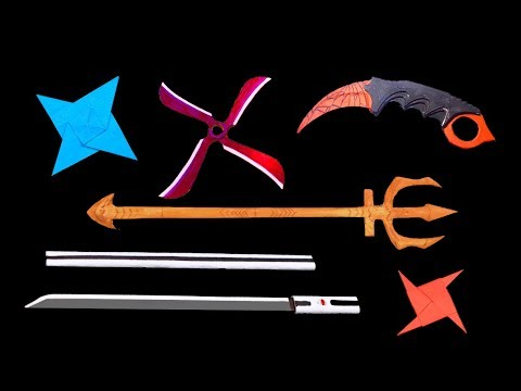 Top 06 Easy Origami Ninja Star/sword/Knife - How to make