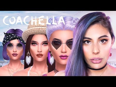 THE SIMS  4 COACHELLA - CAS
