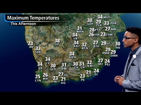 SA #Weather forecast | 09 December 2017