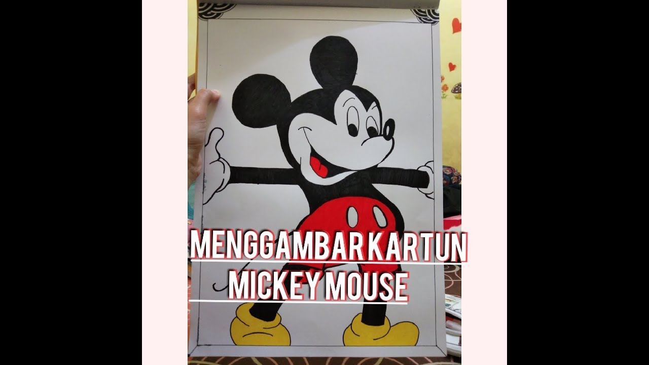 MENGGAMBAR KARTUN MICKEY MOUSE