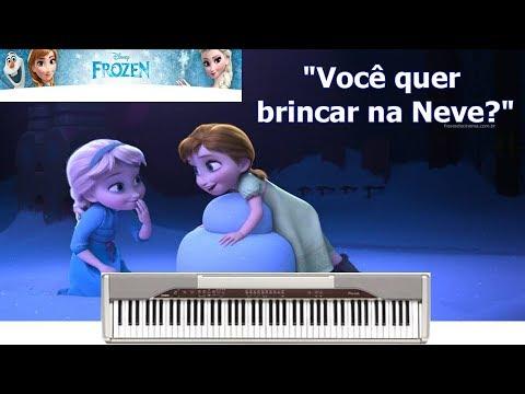 Frozen Voce Quer Brincar Na Neve Instrumental Piano Youtube