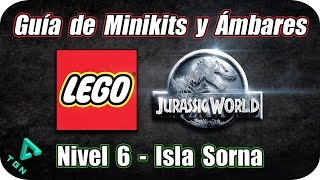 LEGO Jurassic World - Guía de Minikits y Ámbares - Nivel 6 - Isla Sorna