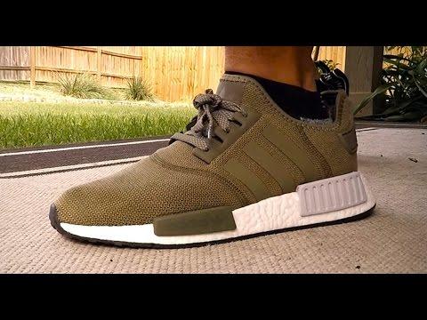 d61c197c2 Adidas NMD Olive On Feet BB2790 - YouTube