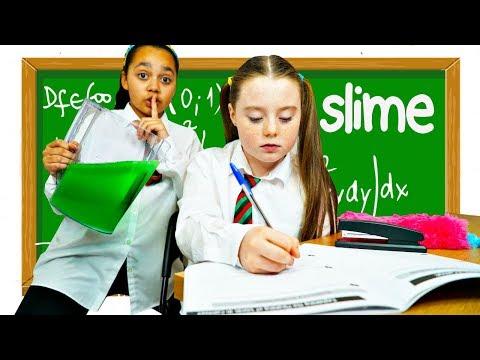 TIANA'S SLIME PRANK IN SCHOOL CLASSROOM!!!