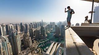 Высотный Экстрим |  Руфер Вадим Махоров на крышах небоскрёбов Дубай ОАЕ | HD