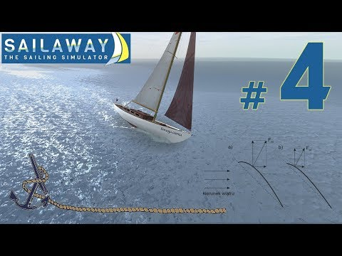 Sailaway - The Sailing Simulator - trymowanie z krzywą w tle.