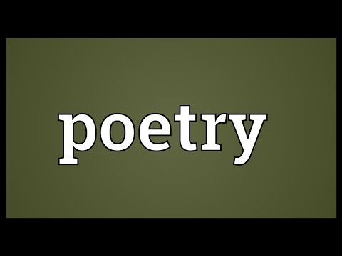 Poetry Meaning