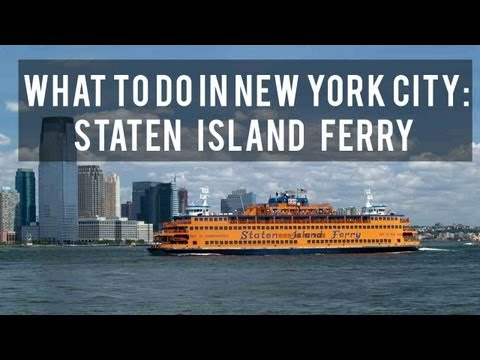 What to do in New York City: Staten Island Ferry