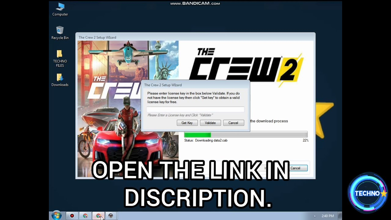 How to download Crew 2 license key without survey - YouTube