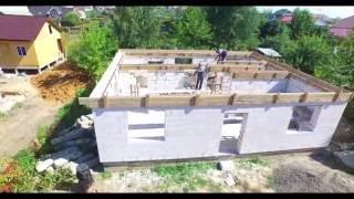 видео Пошаговое строительство домов из газобетона