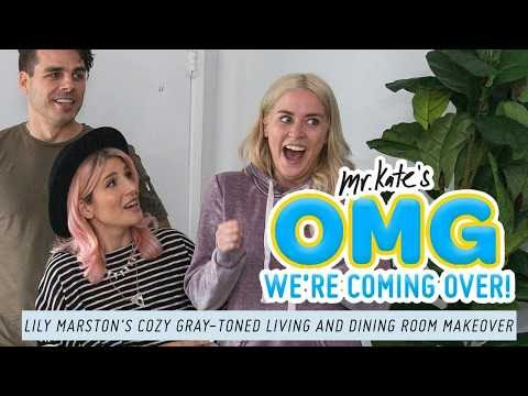 Lily Marston's Cozy, Gray-Toned Living & Dining Room Makeover | OMG We're Coming Over | Mr. Kate