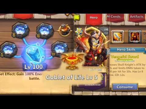 Double Evolved Skull Knight Revitalize Deadly Strike LifeDrain Revive Untouchable Castle Clash