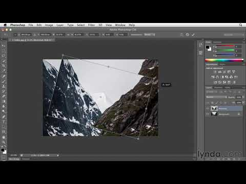Scaling, skewing, and rotating with free transform   Photoshop CS6   lynda.com