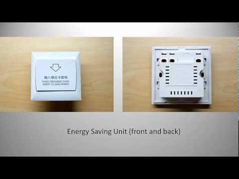 RFID Hotel Key Card Energy Saving Unit (Switch)  YouTube