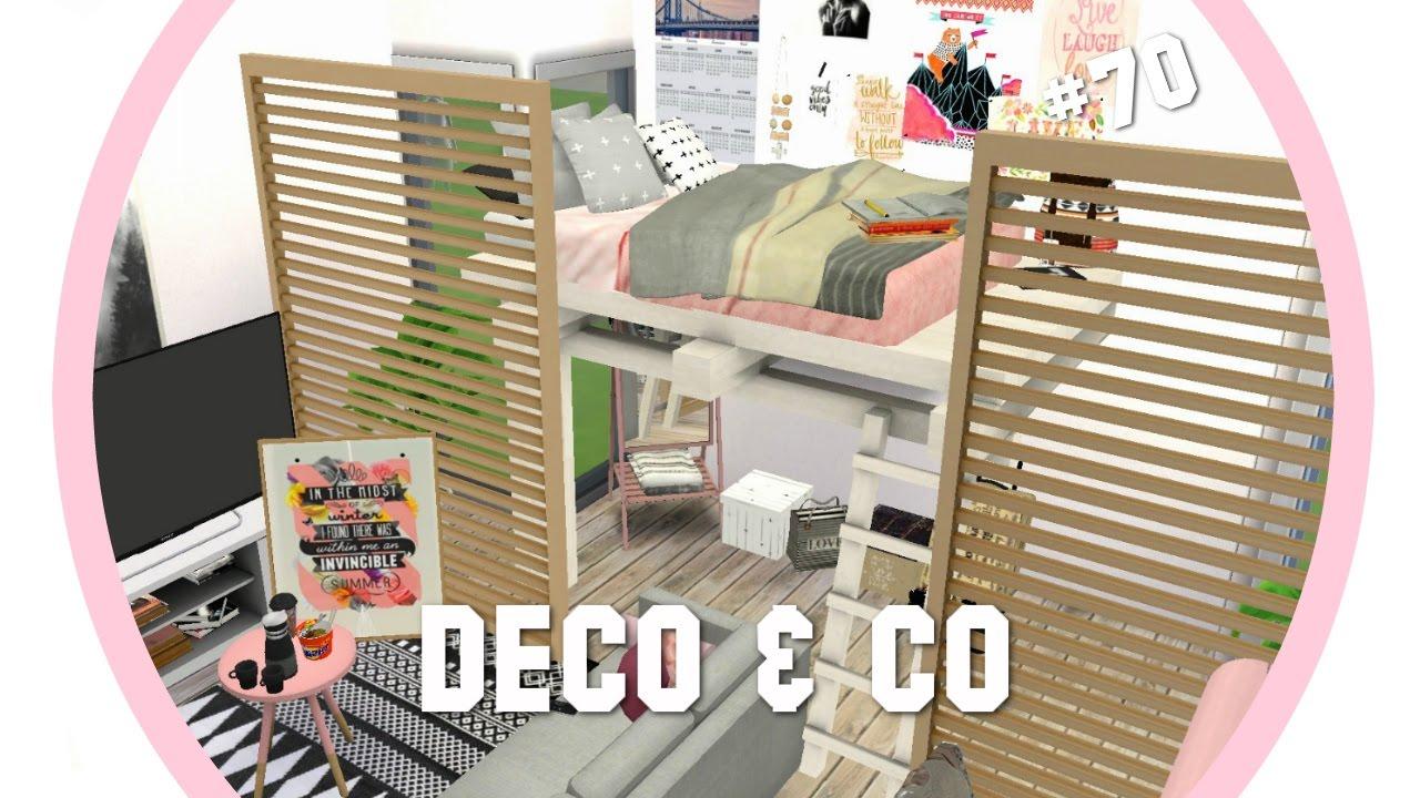 Les sims 4 deco co 70 student appartment cc liste for Deco appartement sims 4