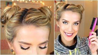 Space Buns Hair Tutorial (Cute + Easy)