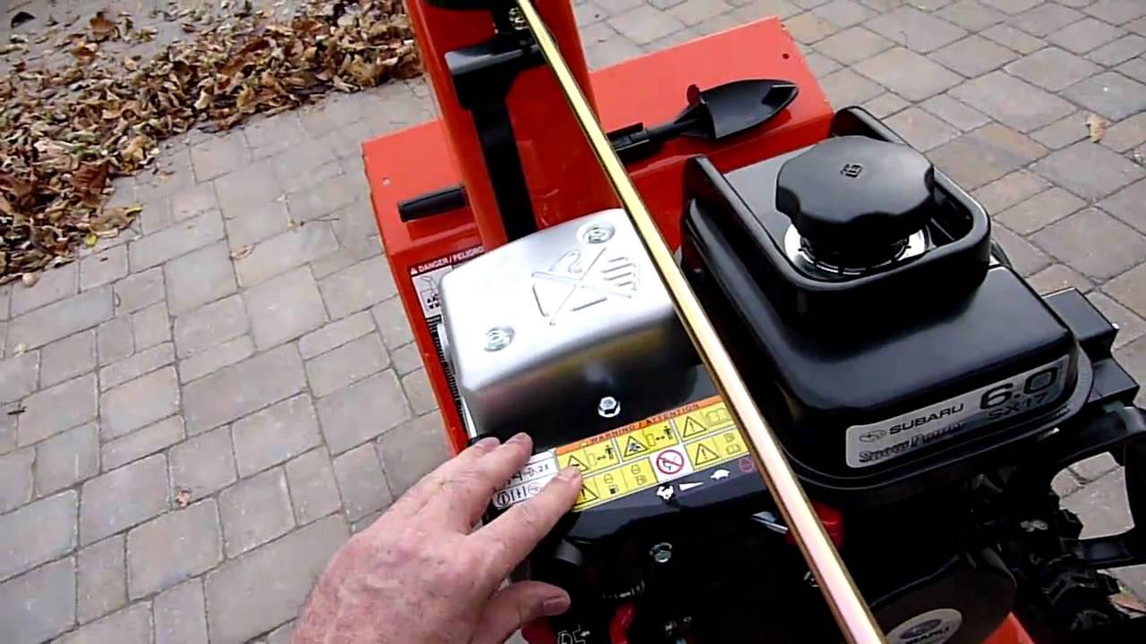 2010 Ariens Compact 22 Snowblower With Subaru Engine Youtube