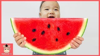 Learn Colors with Fruit Colorful Watermelon Kids Nursery Rhymes Song for Children 국민이 수박 색깔놀이
