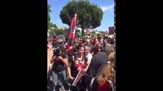 Manifestazione anticorrida ad Ales-16 Mag. 2015