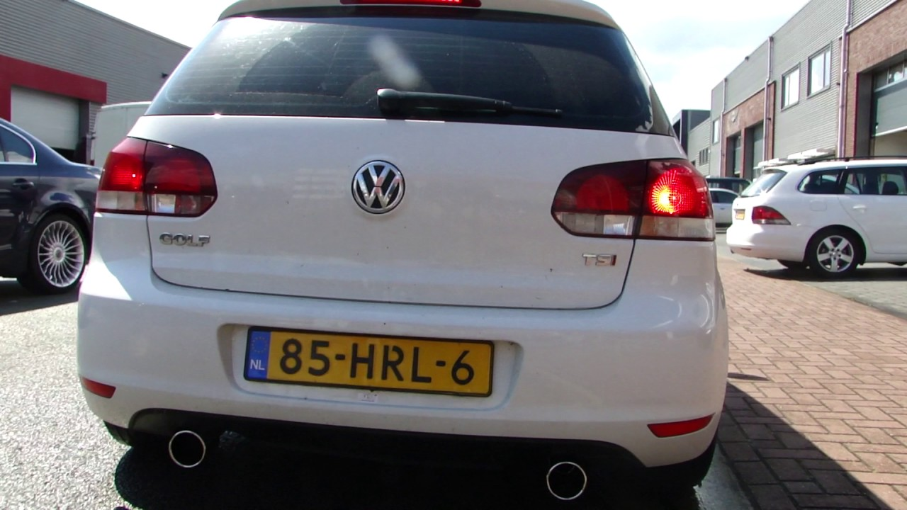 vw golf 6 1 4 tsi gti exhaust sound system sportuitlaat. Black Bedroom Furniture Sets. Home Design Ideas