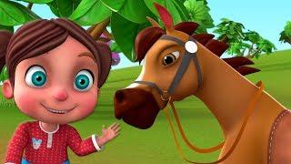 Chal Mere Ghode Chal Tik Tik   चल मेरे घोड़े   Hindi Kids Rhymes   Little Treehouse India
