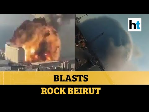 Watch: Huge explosions rock Lebanon's Beirut; buildings & cars totalled