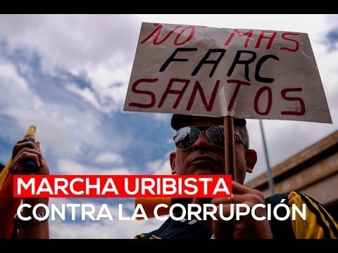Así fue la marcha uribista contra la corrupción | El Espectador