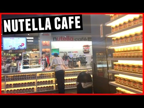 WE FOUND A LITTLE NUTELLA CAFE