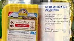 Halloumi-mansikkasalaatti ja broilerivartaat