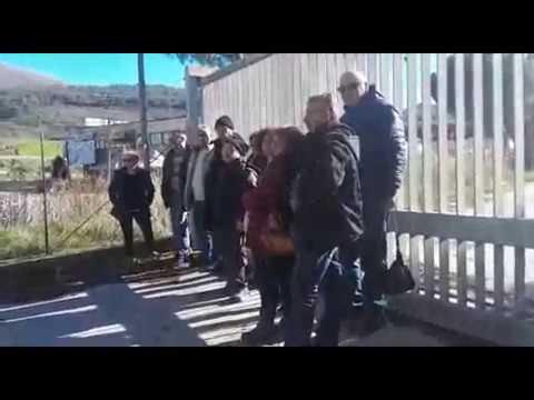 POLLA, LAVORATORI ERGON ANCORA SENZA STIPENDI. NUOVA PROTESTA.