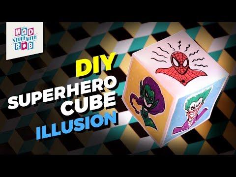 How to Make a Superhero Cube Illusion
