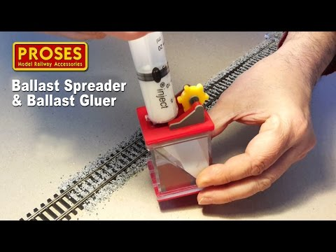 Model Railroad Train Track Plans -Ballast Spreader & Gluer by Proses The fastest and easiest way to ballast your tracks.