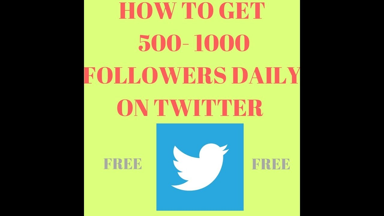 get 500 followers on twitter for free