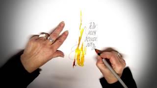 Kalligraphie lernen | In dir muss brennen | Aquarell und Tusche von Elli Konstanzer