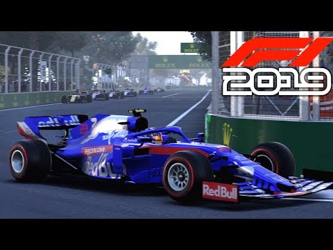 F1 2019 EXCLUSIVE Gameplay - Race in AZERBAIJAN with Alexander Albon (F1 2019 Toro Rosso)