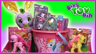 EASTER DRAGON'S Basket of My Little Pony Surprise Toys for 2017! | Bin's Toy Bin