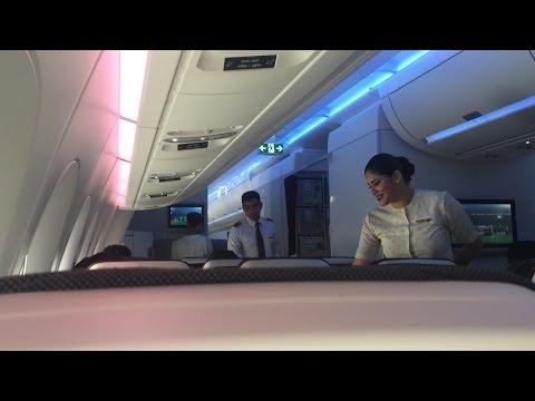 Qatar Airways Airbus A350XWB Flight Experience: QR001 Doha to London