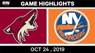 NHL Highlights | Coyotes Vs. Islanders – Oct 24, 2019