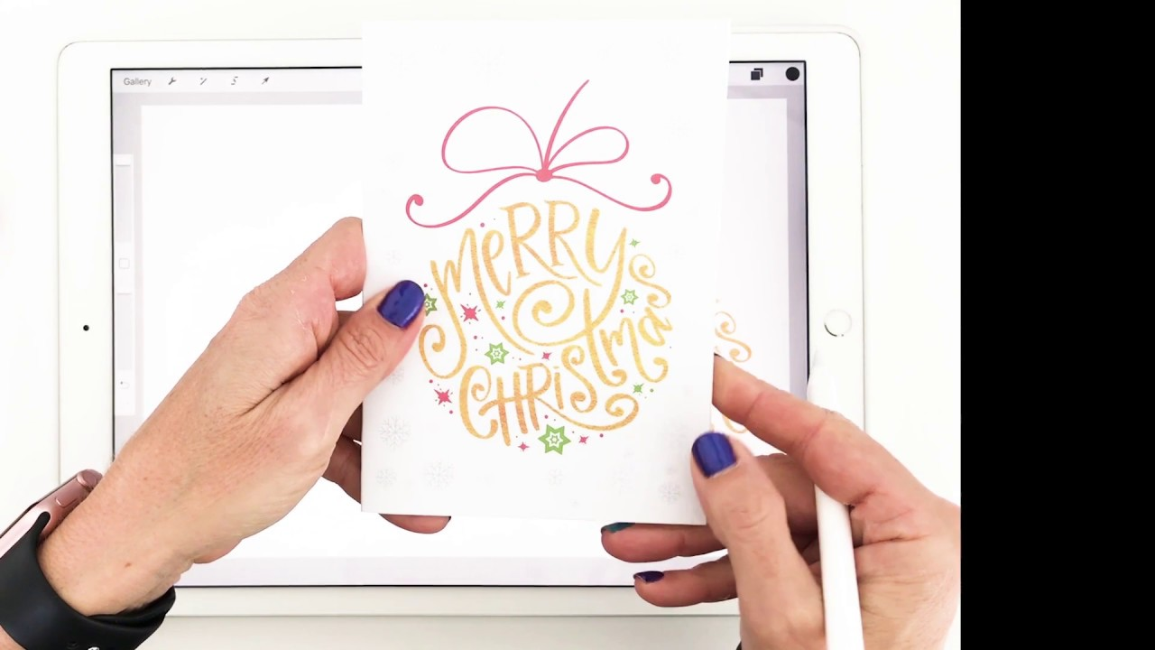 Modern calligraphy on iPad Pro with Apple Pencil - YouTube